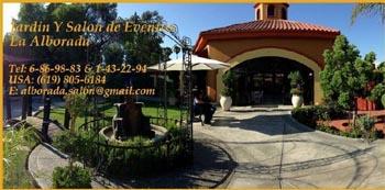 Jard n y sal n de eventos la alborada tijuana for Jardin quinta montebello mexicali