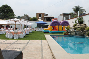 Jardin de eventos cascada casa blanca cuernavaca salones for Jardin quinta montebello mexicali