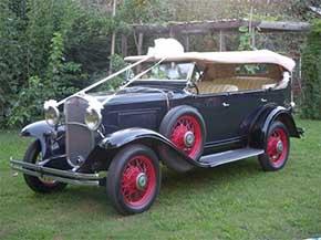 coche boda antiguo